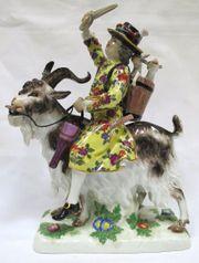 Meissen Figur Schneider auf Ziegenbock