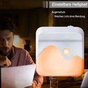 Steckdose LED Nachtlicht Dimmbare Wandleuchte
