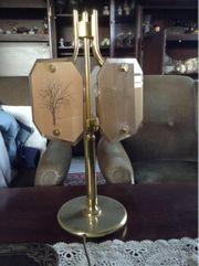 Alte Antike Tischlampe mit Messingständer