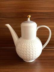 Kaffeekanne Golfball Arzberg weiß blau