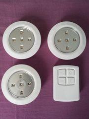 3 LED Leuchten mit Fernbedienung