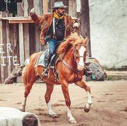 Wildleder Jacke Western