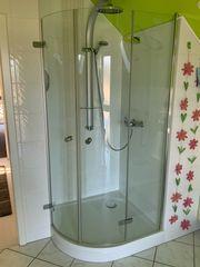 Eck-Dusche rund 90 x 100
