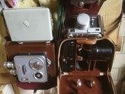 alte Fotoapparate und Zubehöhr