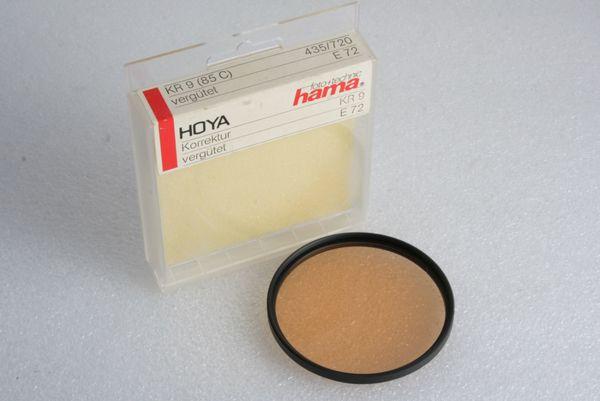 Hoya hama KR 9 Korrektur Filter Rot mit 72mm Einschraubgewinde
