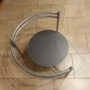 Couchtisch Stahlrohrgestell mit Glasplatte