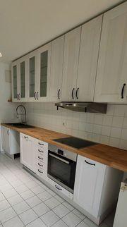 Einbauküche Küchenzeile Weiß mit Spülmaschine