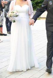 Brautkleid Hochzeitskleid Umstandsbrautkleid Gr 38