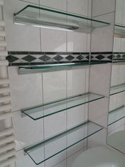 Glas-Edelstahl Ablagen Regale 55 x