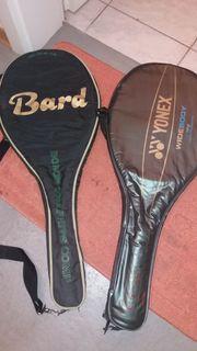 Tennisschläger mit tragetaschen zwei stück