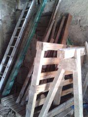 Brennholz Altholz Bretter Latten Anmachholz