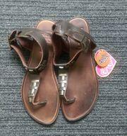 Damen Mädchen Schuhe Leder Gr