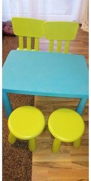 IKEA MAMMUT Kindertisch Stühle Hocker