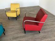 3 Design Retro Sessel - Chrom