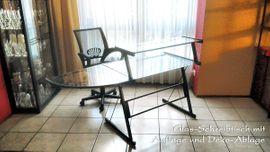 Variabler Glas-Schreibtisch Doppeltisch Ablage Eckelement: Kleinanzeigen aus Altdorf - Rubrik Büromöbel