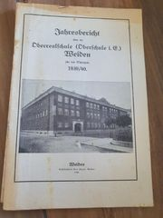 Jahresbericht Oberschule Weiden 1939 40