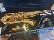 Yamaha Saxophon mit allem Zubehör