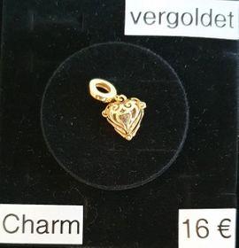Echt Silber vergoldet Charm Herz: Kleinanzeigen aus Ostfildern - Rubrik Schmuck, Brillen, Edelmetalle