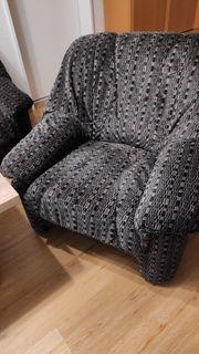 Sofa 3-Sitzer Sessel Hocker zu