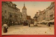 AK historisch Nürnberg Ludwigstrasse und