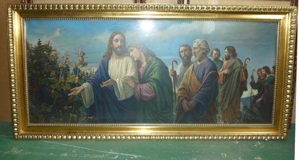 4 antike Bilder mit religiösen