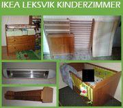 Ikea Leksvik Kinderzimmer Echtholz Babybett