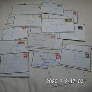 18 gelaufene Briefe von 1983