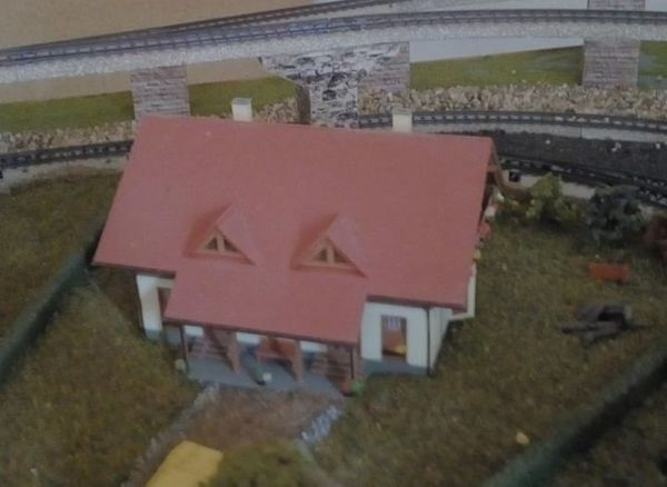 Faller Häuser 9 Stück zusammengebaut
