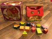 Steckhaus Puzzlehaus Holzhaus Kinderspielzeug