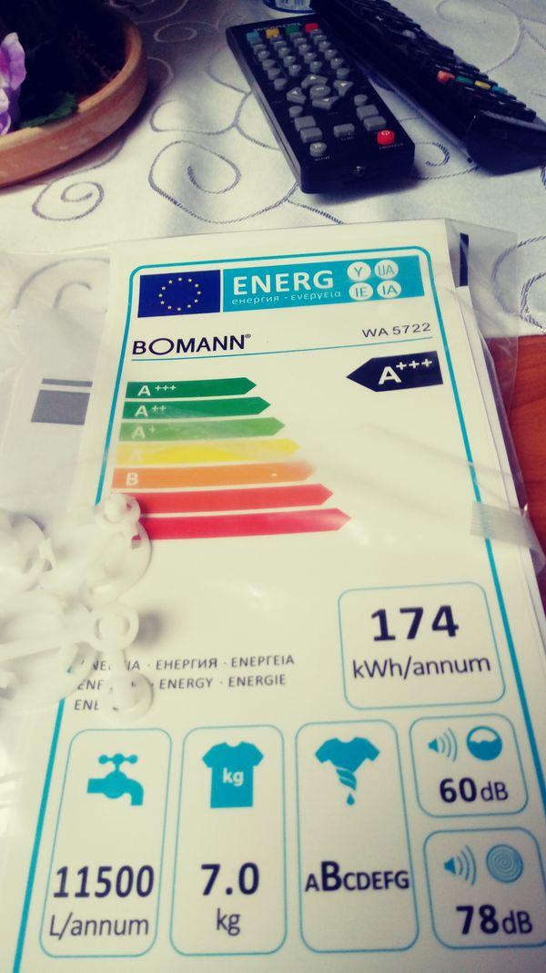 Neue Waschmachine Bomann fassungsv 7kg