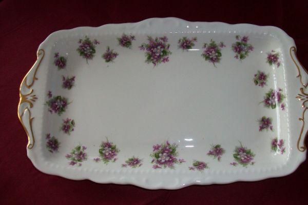 Kuchenplatte rechteckig original Sweet Violets