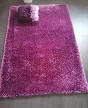 Hochflor Teppich Lila