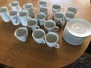 12 weiße Tassen Unterteller 5