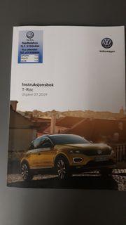 Norwegisches Bordbuch Handbuch VW T-Roc
