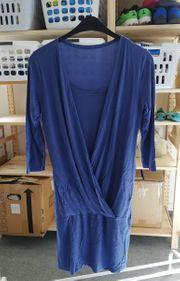 Umstandskleid und Stillkleid blau XL