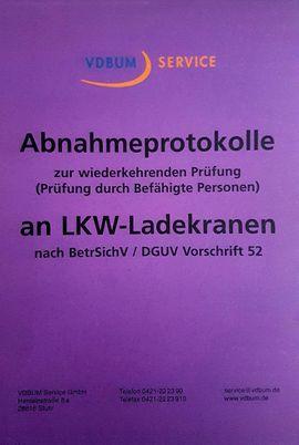 Bild 4 - DGUV Prüfung von LKW Lade - - Stuttgart Möhringen