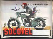 Altes Reklame Plakat Motorrad Socovel