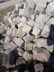 Granit Pflaster Stein Kopfsteinpflaster groß
