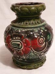 alte grüngemusterte Vase Vintage 287-18