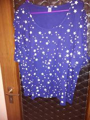 T-Shirt Gr 50 blau mit