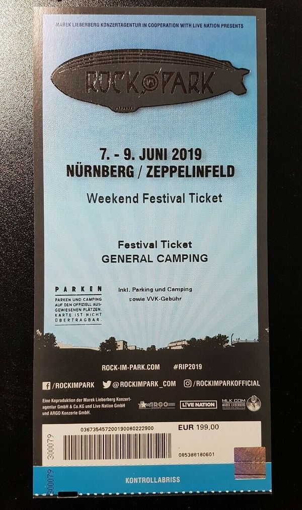 ROCK IM PARK 2019 Festivalticket