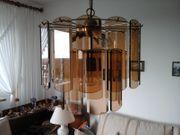 Wohnzimmer Deckenlampe mit Glaselemente gold