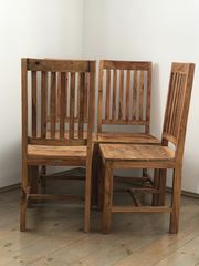 4 Stühle Massivholz Sheesham