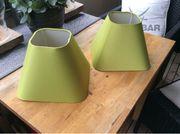 2x Lampen Schirme grün 25x25x22