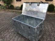 kultige Blechtruhe Loftmöbel Hausbar Koffer