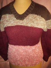 Selbstgestrickt Warmer Damen Pullover Pulli