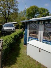 Wohnwagen auf Dauer Saisonstellplatz