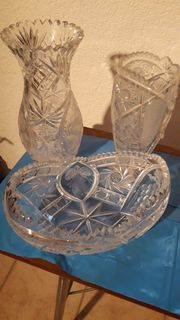 Bleikristallvasen Schalen Eiseimer 24 PBO