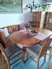 Esszimmer Tisch oval verlägerbar 4