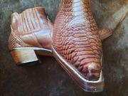 Cowboystiefel Größe 45 Echtleder Braun